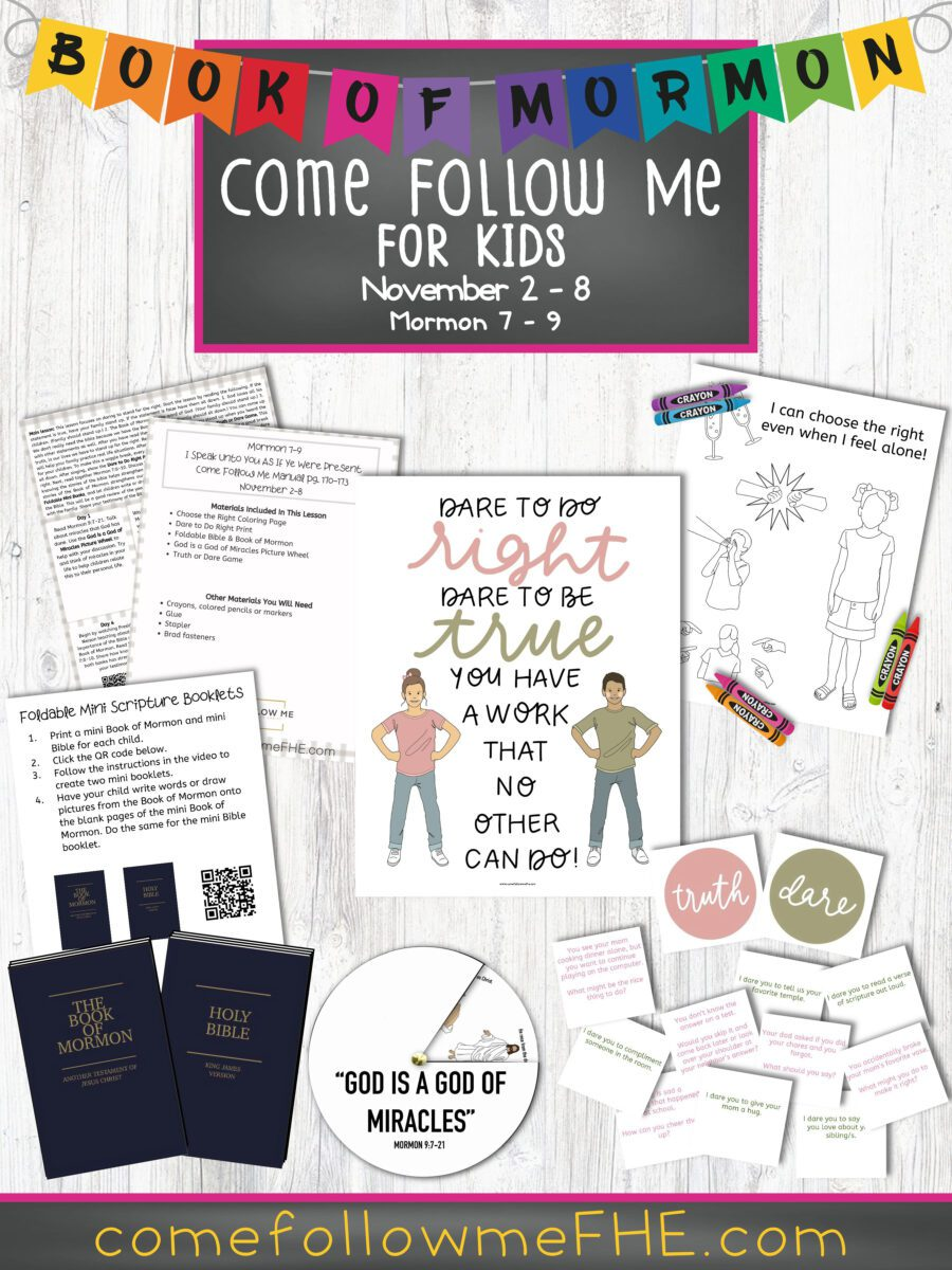 November 2 - November 8 Come Follow Me Lesson for Kids: I Speak Unto You As If Ye Were Present featured by Come Follow Me FHE