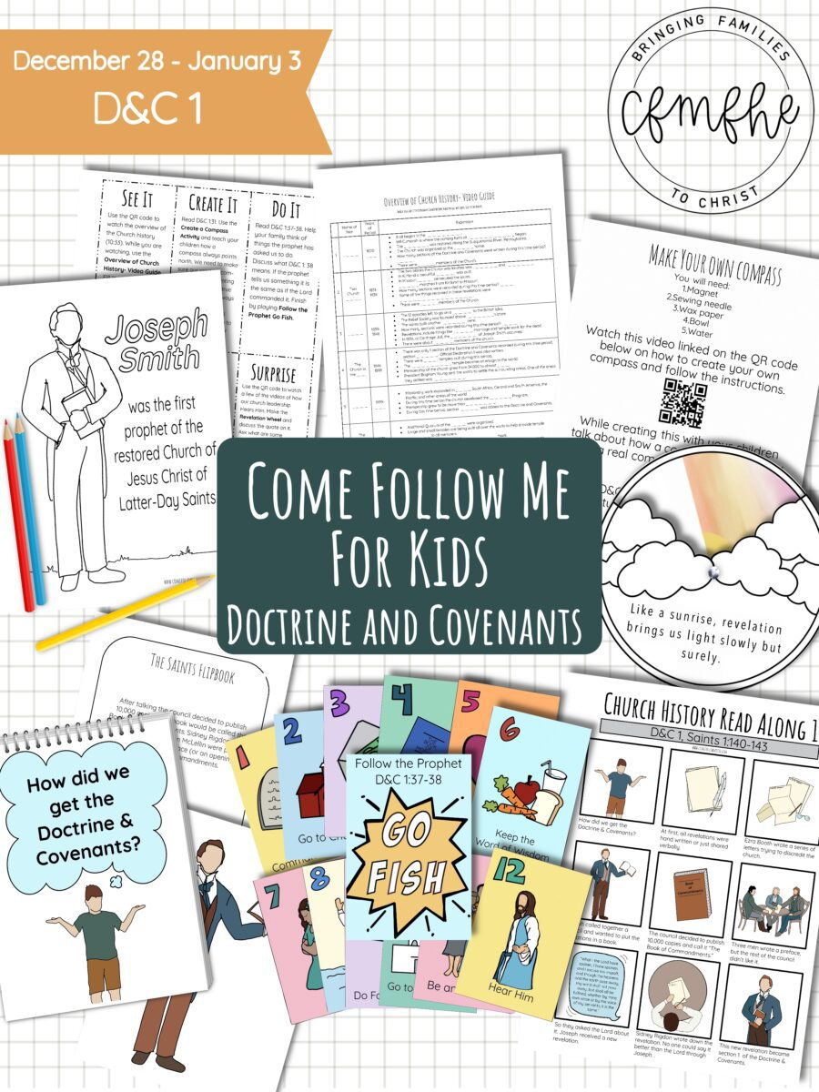 December 28 - January 3 Come Follow Me Lesson for Kids: Hearken, O Ye People by Come Follow Me FHE