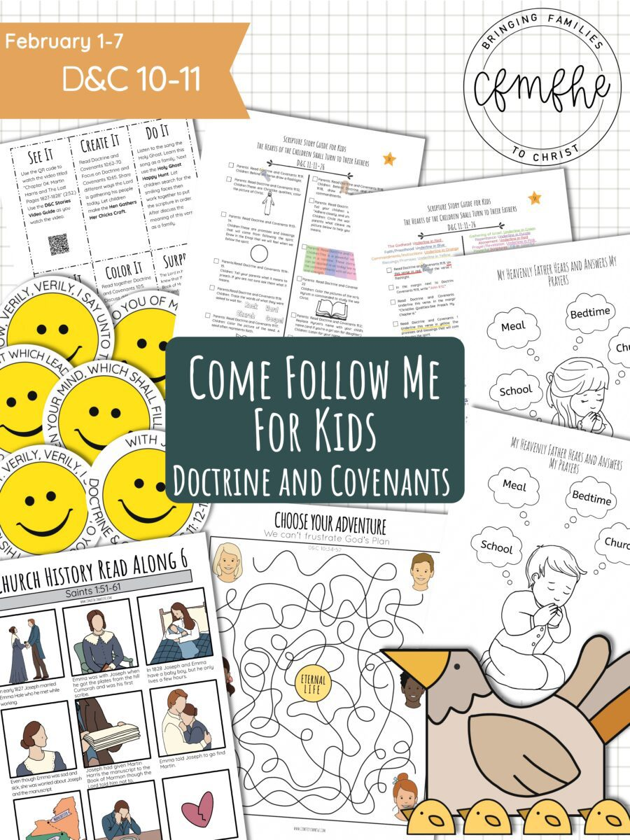 February 1 - February 7 Come Follow Me Lesson for Kids: That You May Come Off Conqueror by Come Follow Me FHE