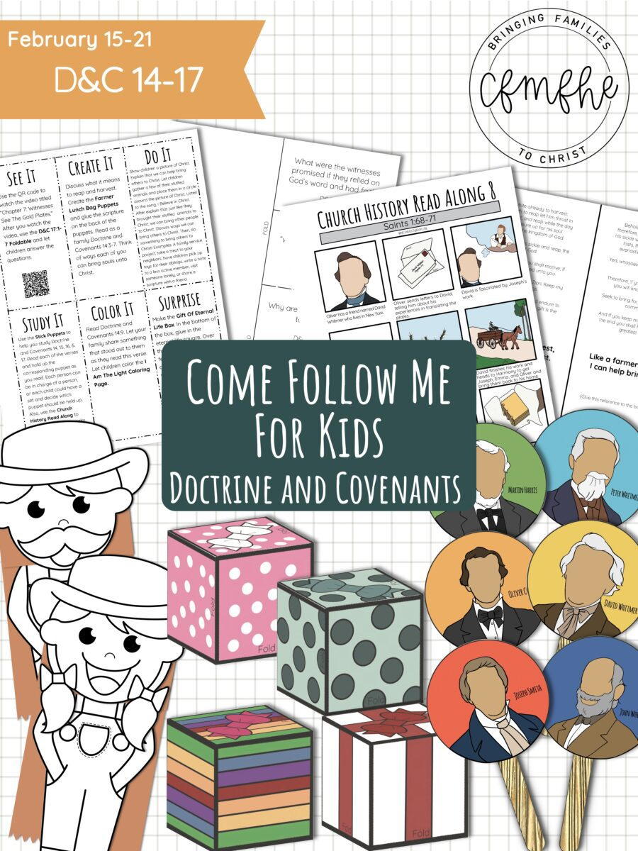 February 15 - February 21 Come Follow Me Lesson for Kids: Stand As A Witness featured by Come Follow Me FHE