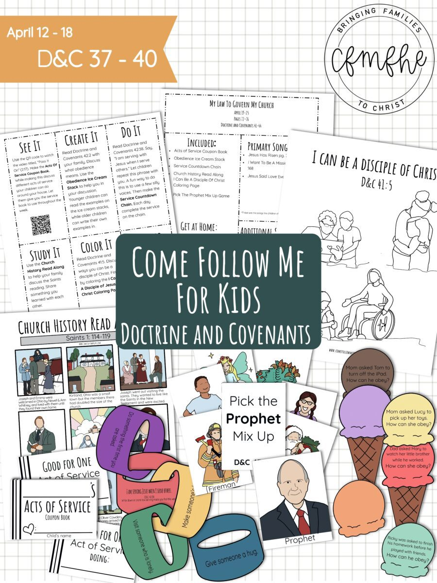 April 19 - April 25 Come Follow Me Lesson for Kids: My Law To Govern My Church featured by Come Follow Me FHE