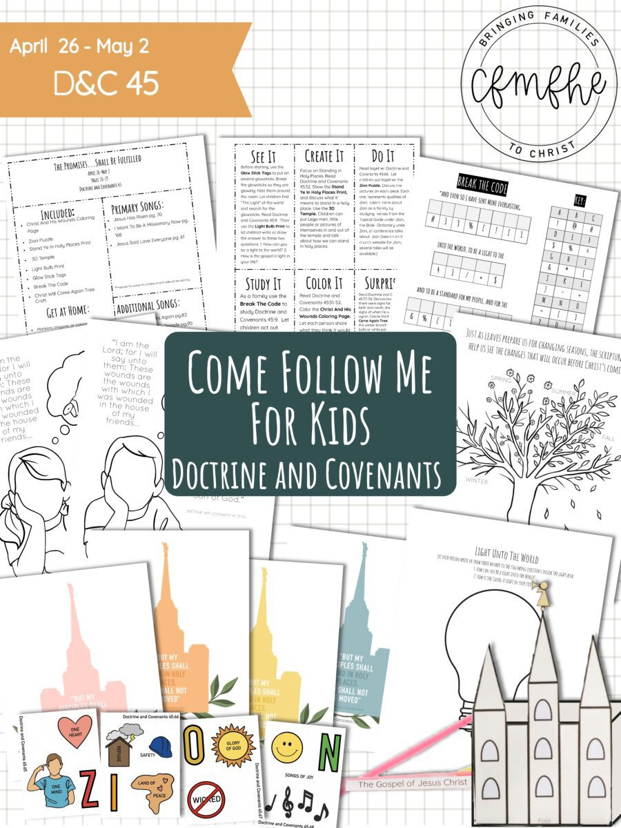 April 26 - May 2 Come Follow Me Lesson for Kids: The Promises... Shall Be Fulfilled, a lesson featured by Come Follow Me FHE