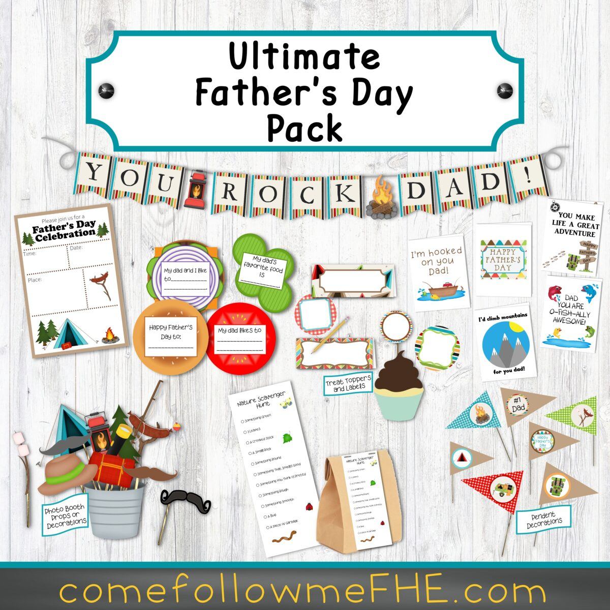 Father's Day Activities featured by Come Follow Me FHE.