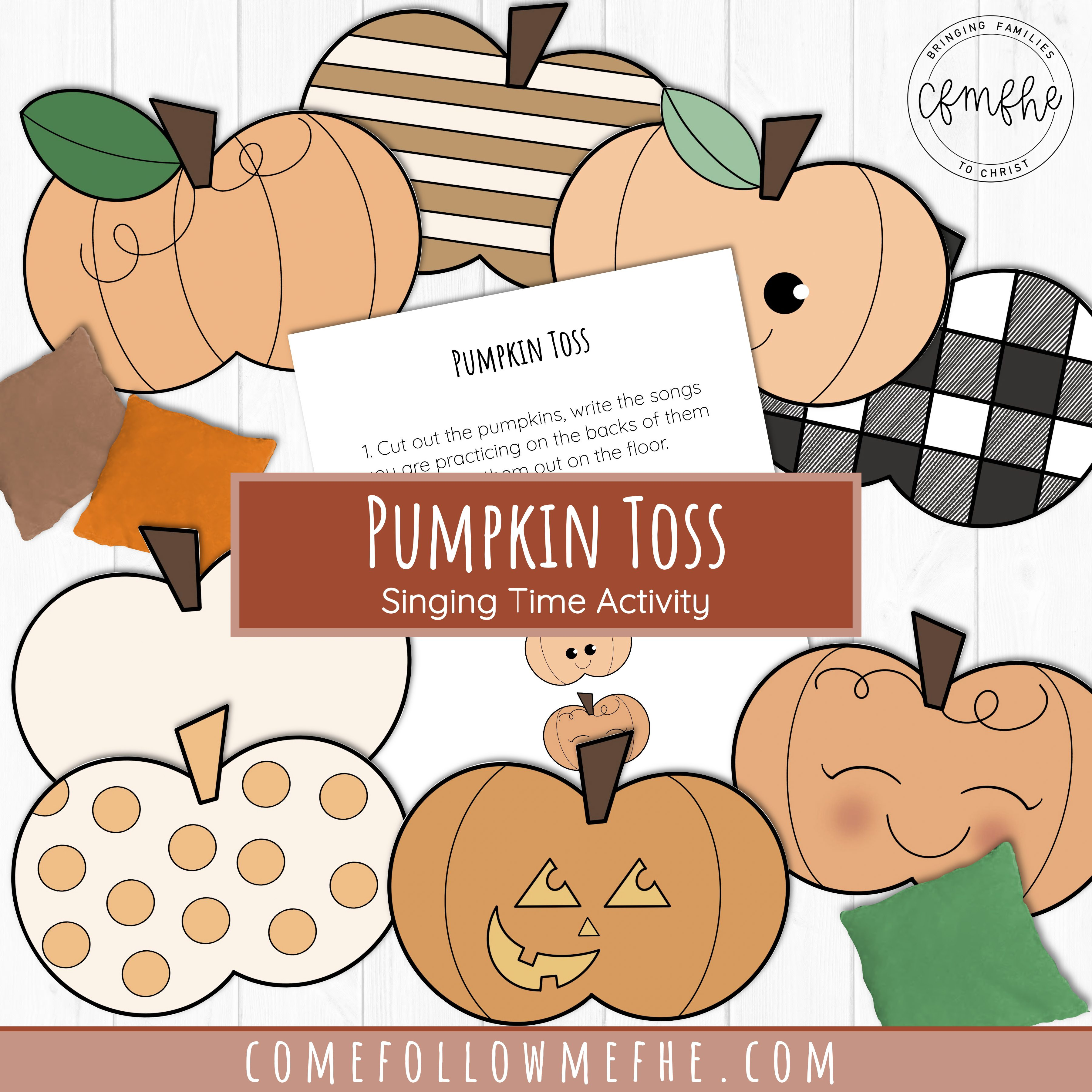 October family games featured by Come Follow Me FHE
