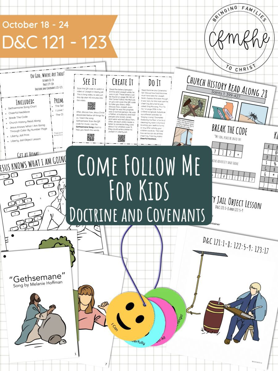 October 18 - October 24 Come Follow Me Lesson for Kids: Oh God, Where Art Thou featured by Come Follow Me FHE