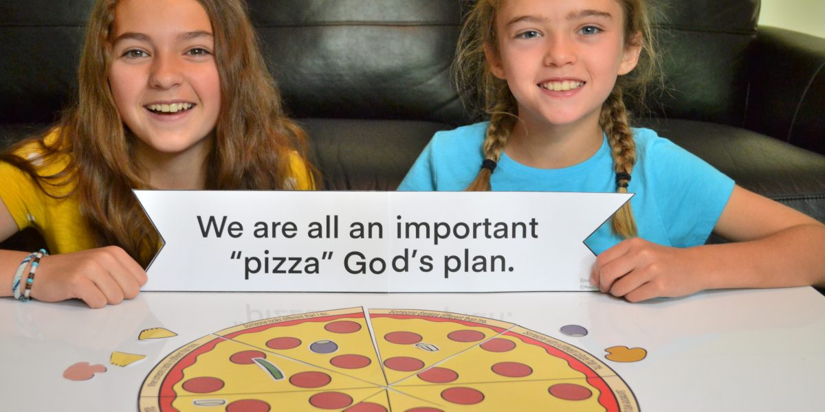 Make a pizza together to teach that God needs each of His children.